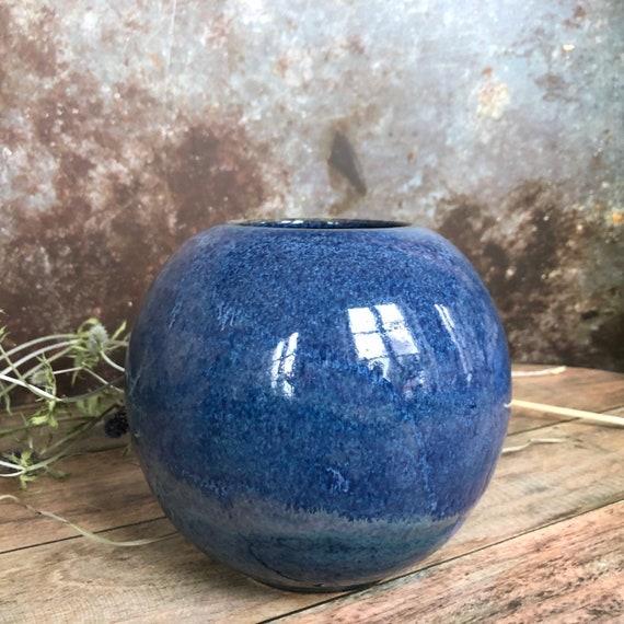 Large handmade stoneware vase