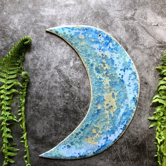 XL Galaxy stoneware moon