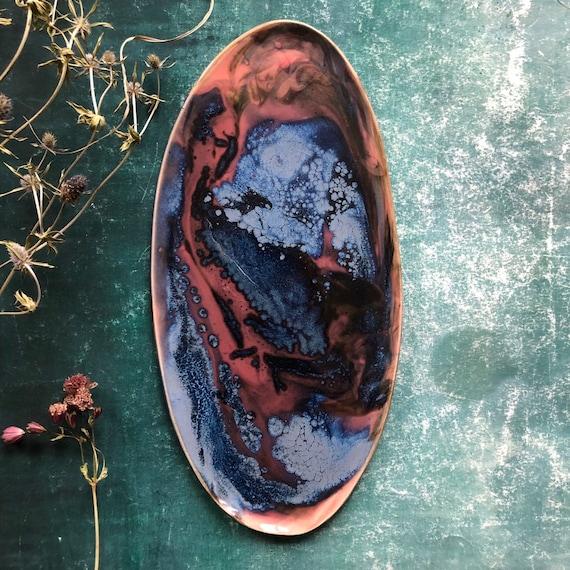 Mystic River stoneware platter