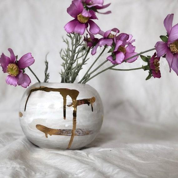 Handmade stoneware vase / planter / container