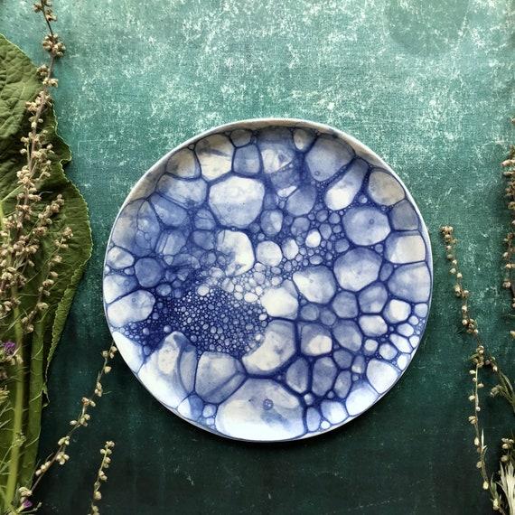 Mermaid series lunch plate porcelain plate handmade ceramics Danish design