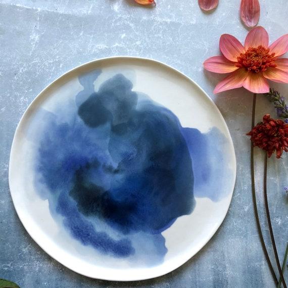 Watercolor series  porcelain plate