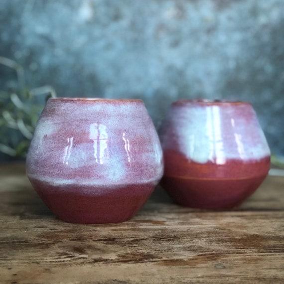 Pair of handmade stoneware mugs / cups