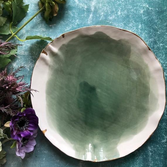 Watercolor series  porcelain platter