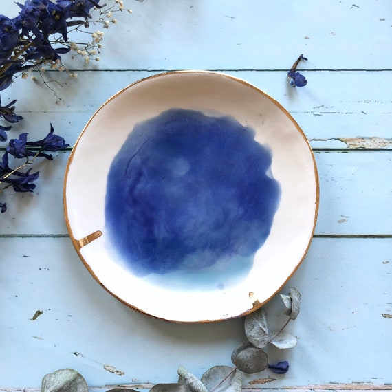 Porcelain watercolor plate