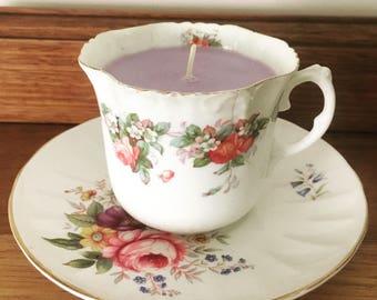 Teacup Soy Candle England Fine Bone China