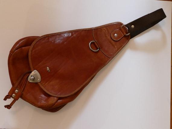 90's camel true leather handbag