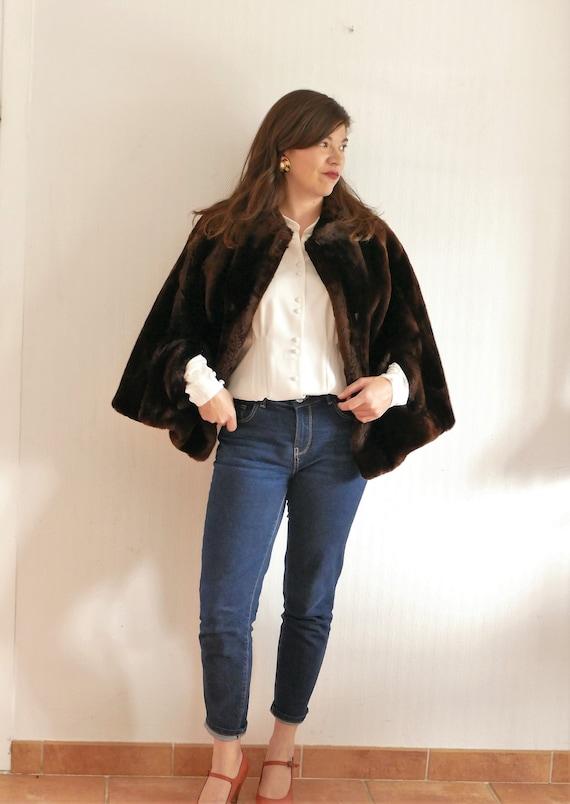 50's fur cape