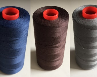 Sewing Thread 5000 meter Cone | blue | grey | brown | red