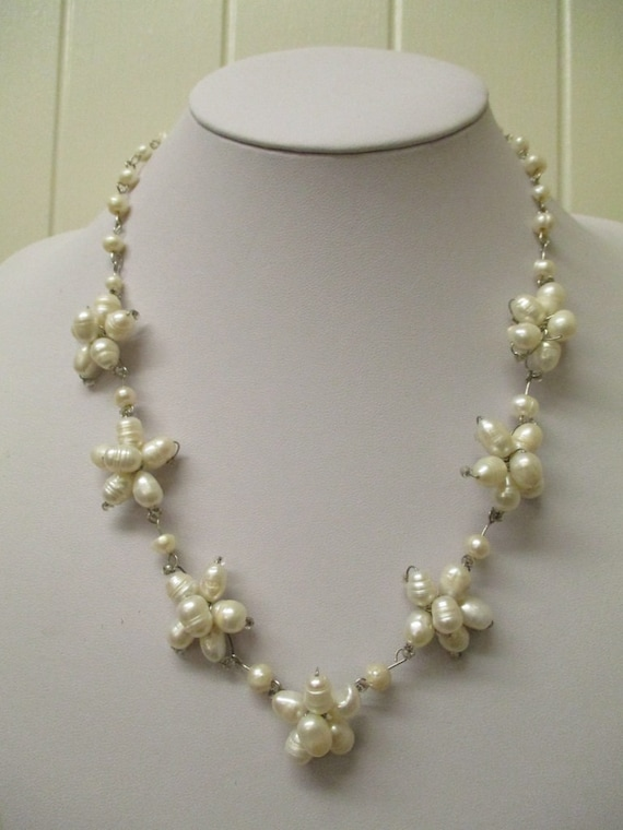 Vintage Cultured Freshwater Pearl Necklace, Wire W