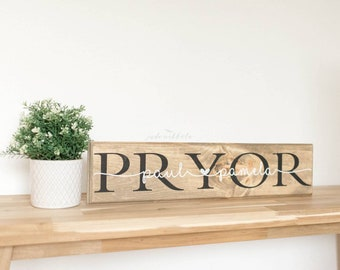 Personalized Family Wooden Sign - Custom Wedding Sign - Personalized Wedding Gift - Personalized Engagement Gift - Gift for Bridal Shower