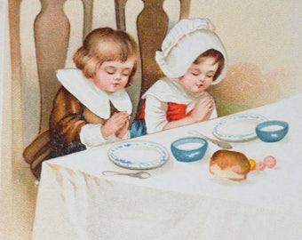 Thanksgiving Postcard Ellen Clapsaddle Children Card