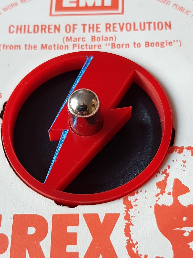 BOWIE THUNDERBOLT Acrylic 45rpm adaptor for center spindle