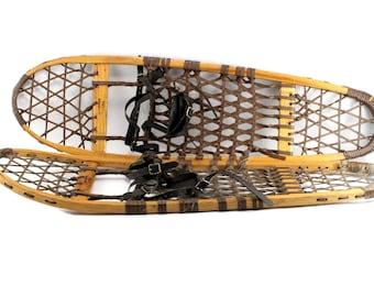 Vintage Vermont Tubbs Snowshoes - Vintage Snowshoes - Vintage Vermont Tubbs - Decorative / Functional Snow Shoes