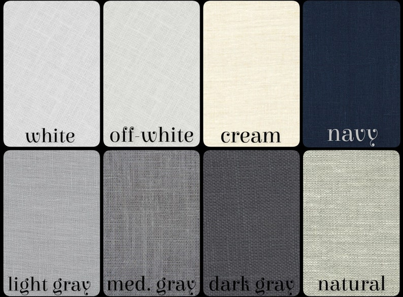 Fabric Sample for 100/% Linen Curtains in Regular Width
