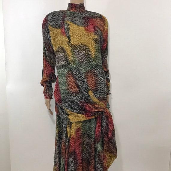 Avant-garde Silk Dress