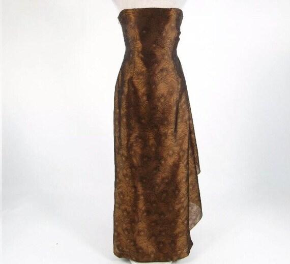 Vintage Silk Peacock Gown