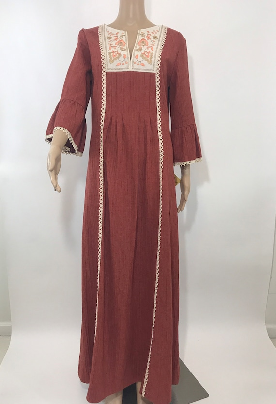 NWT 70's Shaheen Prairie Dress