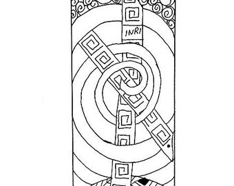 Zentangle Inspired Bookmark to Color - Christian, Easter Theme