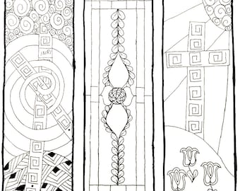 Easter Bookmarks to Color | Christian Bookmarks | Bibliophile Gift | Spring Bookmarks
