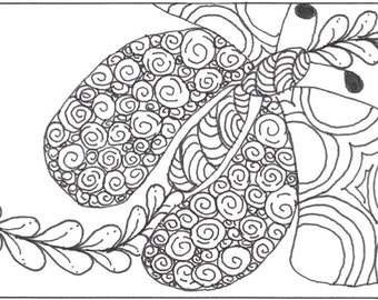 Butterfly Bookmark to Color | Bibliophile Gift | Spring Bookmarks | Zentangle Bookmarks