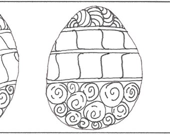 Easter Egg Bookmark to Color | Bibliophile Gift | Spring Bookmark | Easter Bookmark | Zentangle Bookmarks