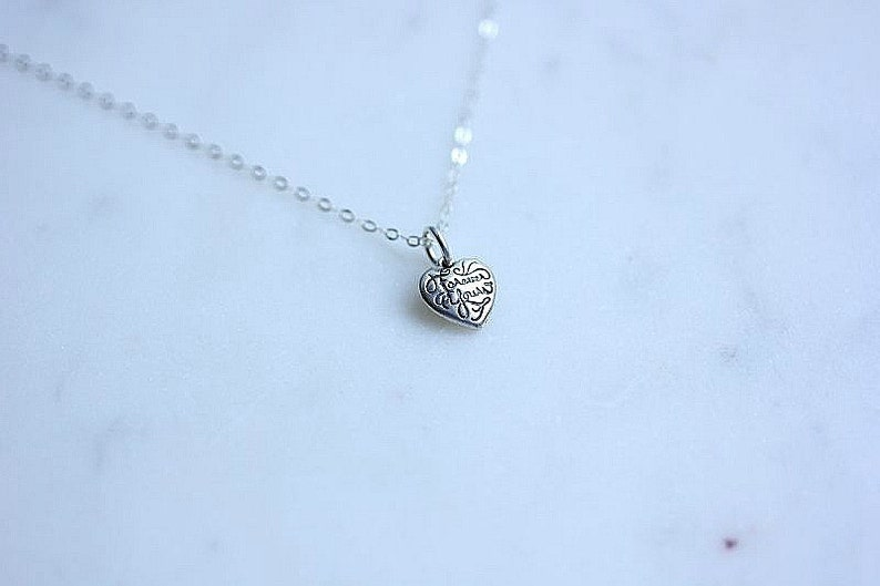 efc96de35e71 Silver Tiny heart necklace Forever Yours Heart necklace