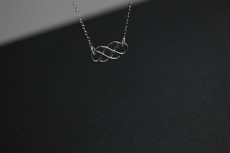 Wedding gift Love necklace Eternity necklace Silver Celtic Necklace Sterling Silver Celtic Necklace