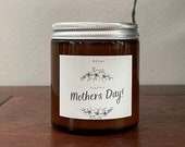 Mothers Day Candle Gift, Soy Candle with Wood wick and essential oils