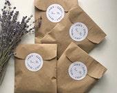Lavender Wedding Confetti Sachets, Wedding Exit Petal Toss - Set of 25