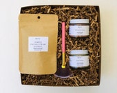 Bride to Be Gift, Green Beauty Gift Set for Bride, Natural skin care set