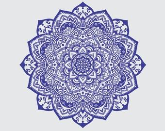 Mandala SVG - Mandala Drawing - Mandala Iron on Transfer - Mandala clip art - Mandala Insatnt SVG - Laser Cutting and Engraving file - Print