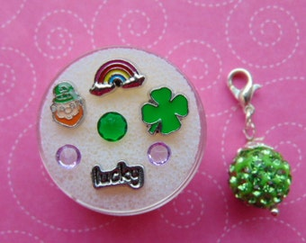 St Patrick/'s Day Floating Charm Set for Floating Lockets-9 Pieces-Gift Ideas for Women