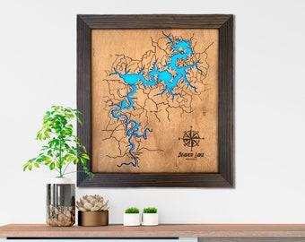 Custom Lake Map Personalized Lake House Decor Lake House Sign Anniversary Gift For Her Him For Boyfriend Wedding Gift Mens Gift