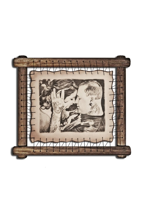 Engraved Picture Engraved Image Unique Picture Frame Custom Etsy