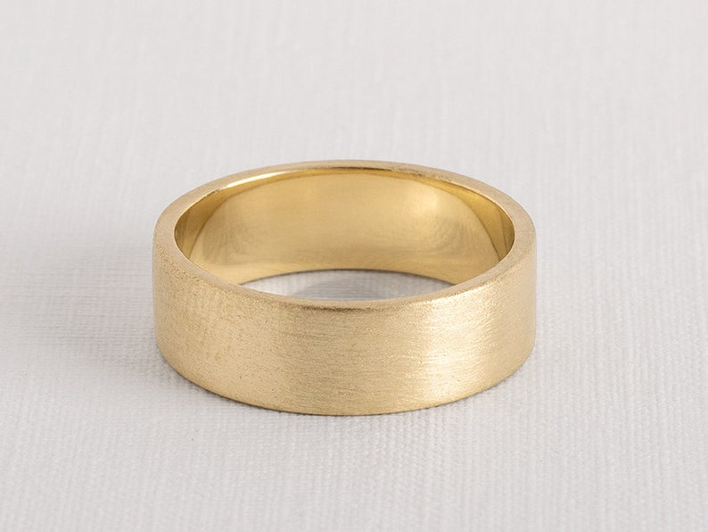 8727e5ccefe Alliance 7 mm Alliance or jaune large anneau de mariage