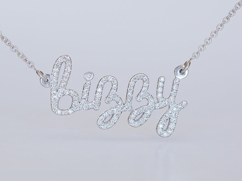 1b2efd3321af Custom Name Necklace Custom Diamond Necklace Personalized