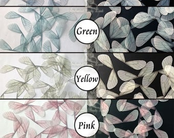 8pcs Double Sided Organza Fabric Dragonfly Wings Moths Butterfly Wings Craft Jewelry Making Findings Color Lingerie Bralette Sewing Project