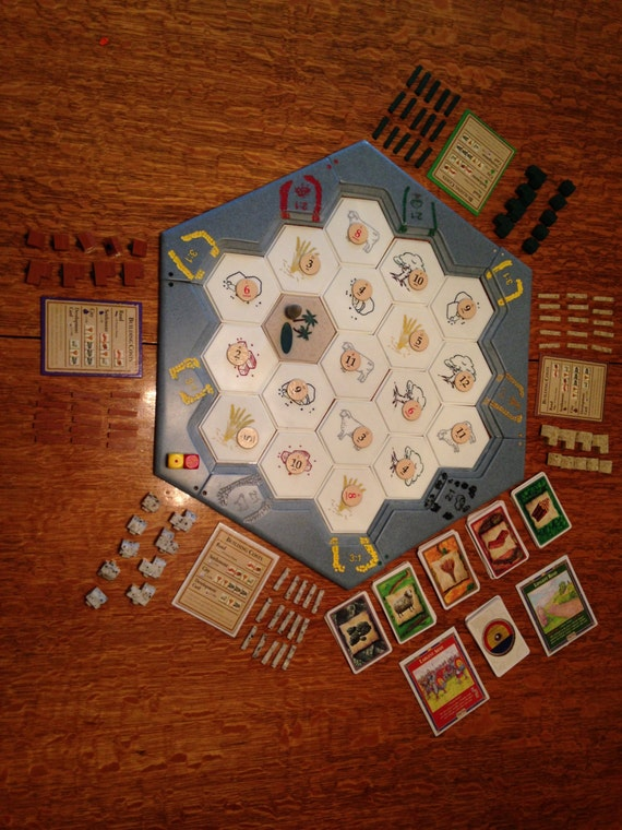 Custom Handmade Solid Surface Settlers Of Catan Game Board Etsy