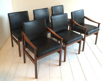 Original Mid Century Chairs - Solid Teak Danish Influence Retro Rare Condition