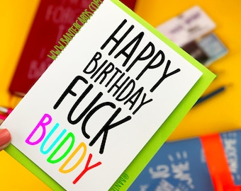 Funny Rude Valentines Day Gift For Him or Her Happy Valentine/'s Day F**k Buddy