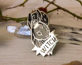 Black Witch Hard Enamel Pin