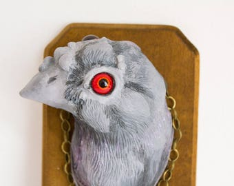 "OOAK sculpture ""Corrupted Pigeon Mage"""