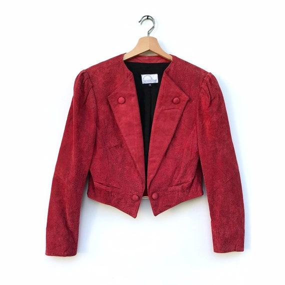 Vintage leather bolero jacket