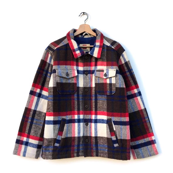 Quiksilver checked quilted shirt/jacket