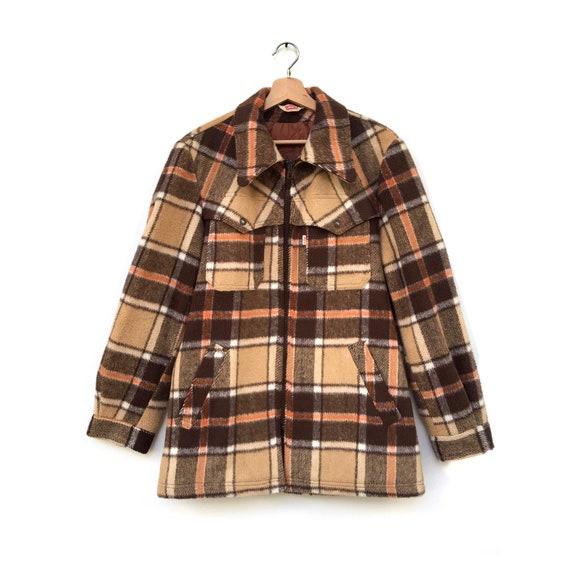 Vintage Levi's checked coat