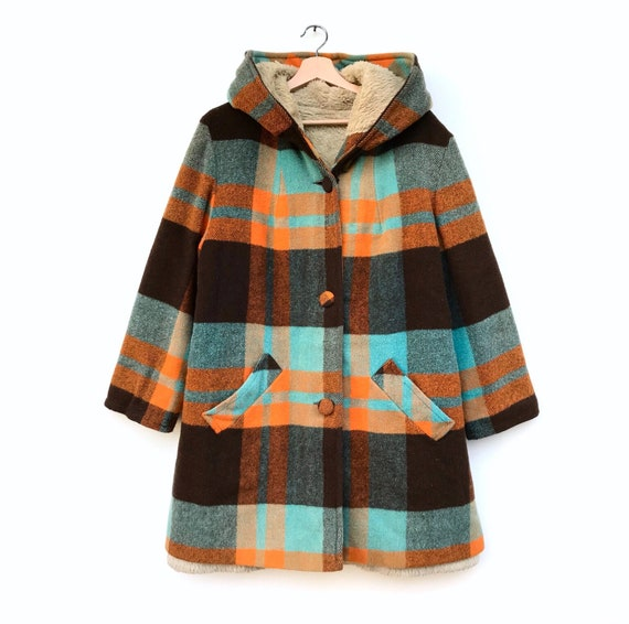 Vintage checked reversible jacket