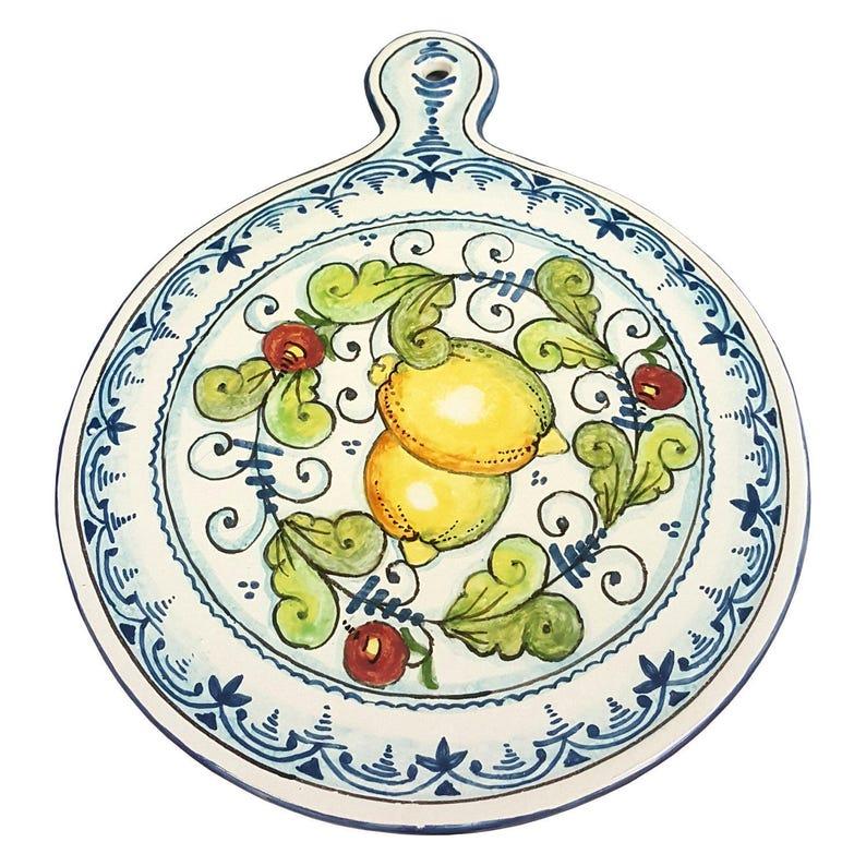 Italienische Keramik Kunst Utensil Geschirr Kachel Untersetzer Etsy