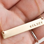 Name necklace, custom name necklace, gold name necklace, bar necklace, necklaces for women, gift for her, custom necklace,personalized bar