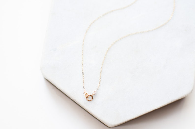 GEMSTONE Cats Eye Violet Dainty 14k Gold Filled Bar Necklace \u2022 Gold Necklace Gift For Women